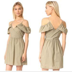 Madewell Khaki Cold Shoulder Dress Sz.12
